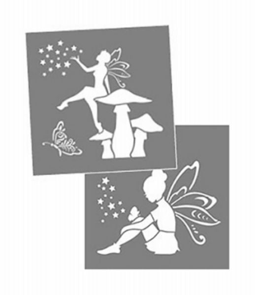 "DecoArt® ADS202-K Americana® Decor Fairies Stencil, 8"" x 8"""
