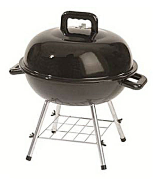 Rankam TG2180501-SC Charcoal Kettle Grill with Ash Catcher, Black, 14""