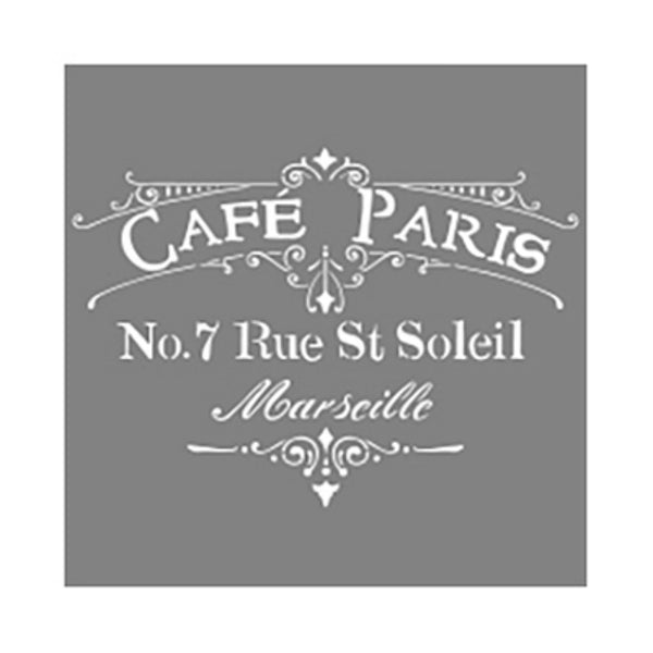 "DecoArt® ADS02-K Americana® Decor Cafe Paris Stencil, 12"" x 12"""
