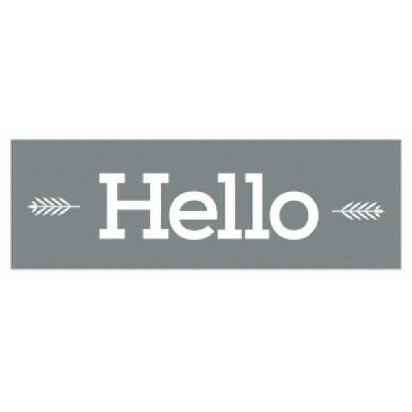 "DecoArt® ADS320-K Americana® Decor Hello Type Stencil, 6"" x 18"""
