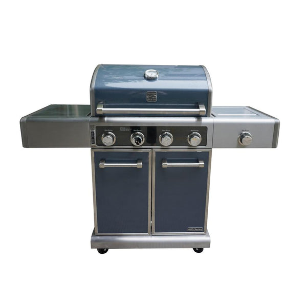 Kenmore PG-40415SOLC-M 4-Burner LP Gas Grill w/Cast Iron Side Burner, Gun Metal