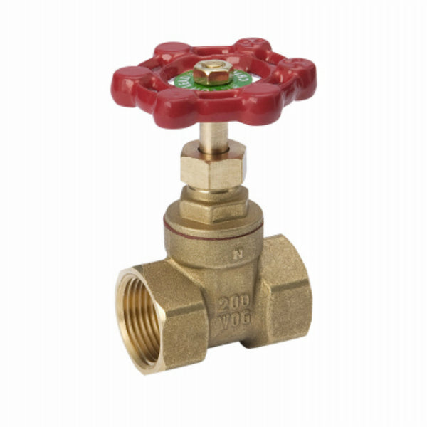 ProLine® 100-408HC Compact Pattern Threaded Gate Valve, Brass, 2""