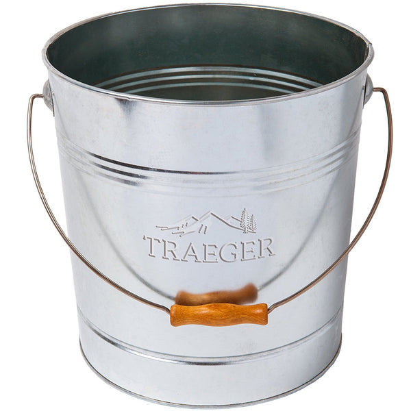 Traeger® BAC430 Pellet Storage Metal Bucket with Rosewood Handle, 20 Lb