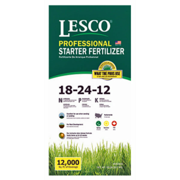 Lesco® 052405 Professional Starter Turf Fertilizer, 18-24-12, 50 Lbs