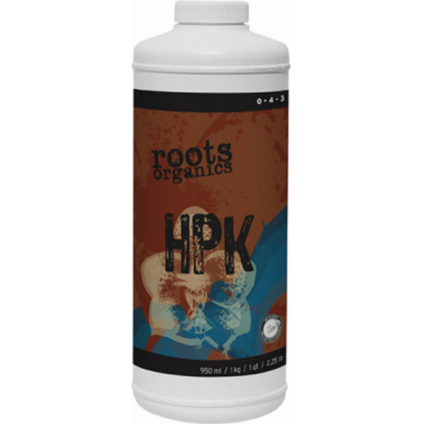 Roots Organics ROHPKQ Liquid Bloom Booster HPK Fertilizer, 0-4-3, 1-Qt