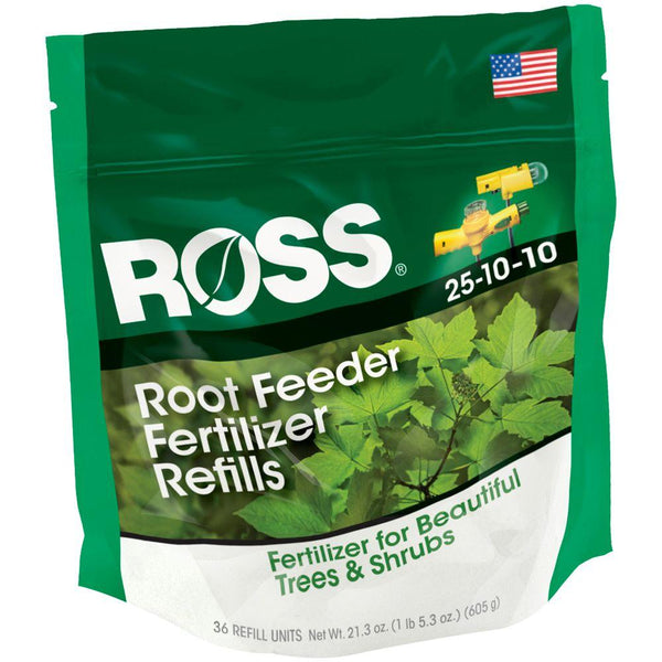 Ross® 14666 Tree & Shrub Root Feeder Fertilizer Refills, 25-10-10, 36-Pack