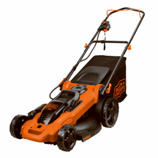 "Black & Decker® BEMW482BH Corded Lawn Mower with 6-Setting, 17"", 12 Amp"