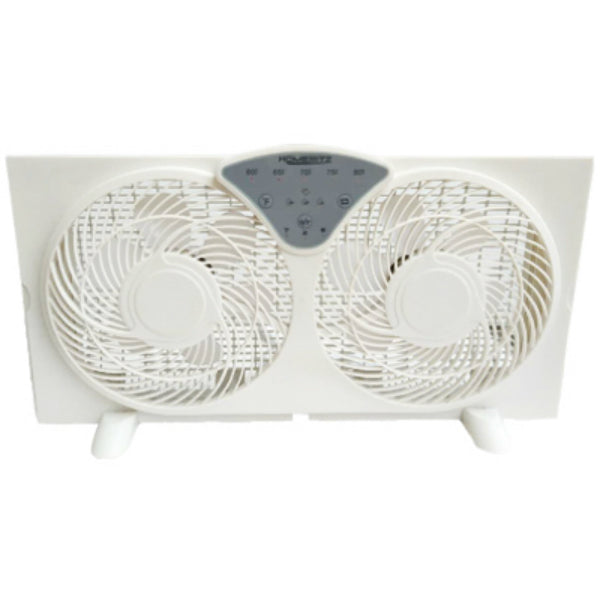 Homepointe WDF9-1D Digital Reversible Twin Window Fan, 3-Speed, 9""