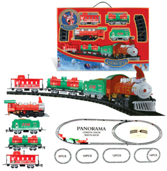 Rudolph FF7081/03 Battery Operated Train with Santa Hat