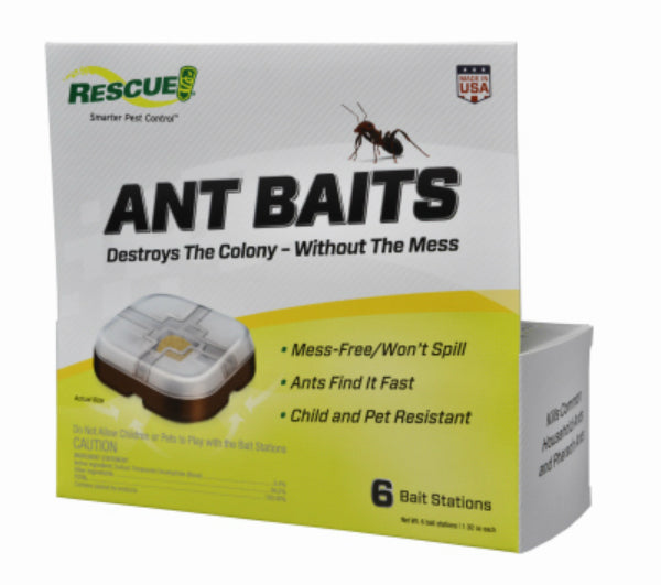 Rescue® AB6-BB4 Ant Bait Stations, 6-Pack