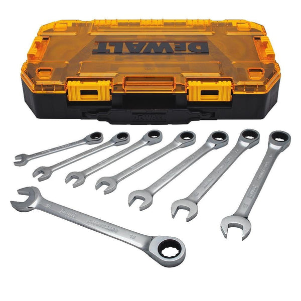 DeWalt® DWMT74734 Metric Ratcheting Combination Wrench Set, 8-Piece