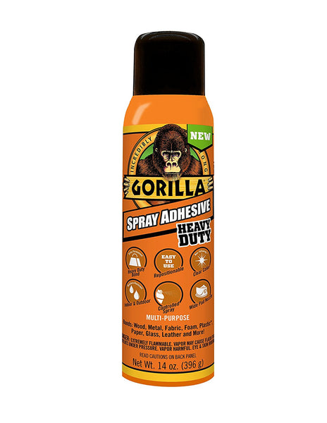 Gorilla® 6301502 Heavy Duty Spray Adhesive, 14 Oz