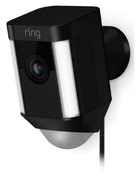 Ring 8SH1P7-BEN0 Spotlight Wired HD Camera with 2-Way Talk & Spotlights, Black