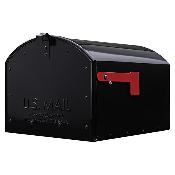 Gibraltar SH400B01 Storehouse Post-Mount Mailbox, Extra Large, Black