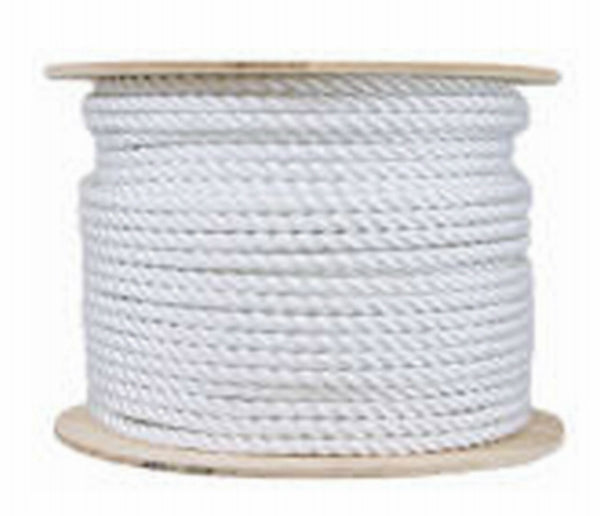 "Mibro 644381 Twisted Cotton Rope Reel, Natural Color, 120 Lb, 1/2"" x 200'"
