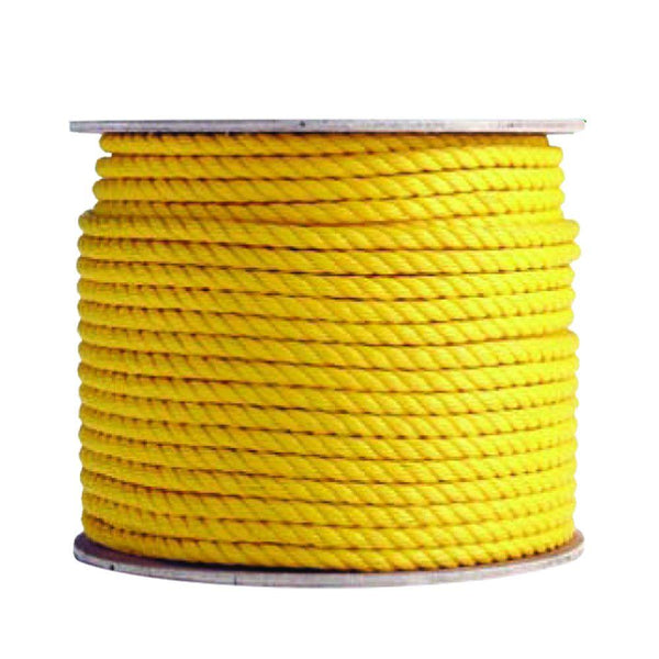 "Mibro 644981TV Twisted Polypropylene Rope, Yellow, 3/4"" x 100'"