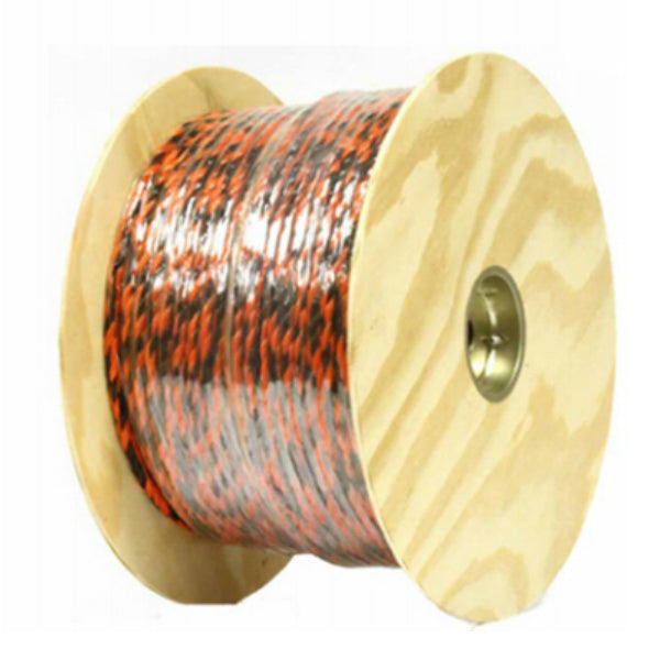 "Mibro 644761TV Polypropylene Twisted Truck Rope, Black & Orange, 3/8"" x 400'"
