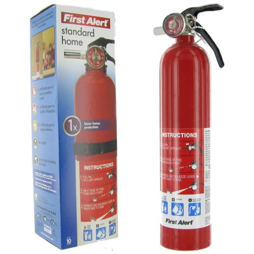 First Alert® HOME1 Rechargeable Home Fire Extinguisher UL Rated 1-A 10-B:C, 2.5 Lb