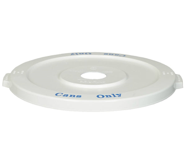 Huskee 3201-1 Commercial Recycle Container Lid, White