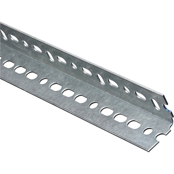 "National Hardware 182758 Galvanized Steel Equal Leg Slotted Angle, 1-1/2""x24"""