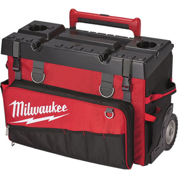 Milwaukee 48-22-8220 Hardtop Rolling Bag with 53-Pockets, 24""