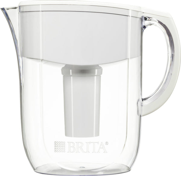 Brita 35509 Everyday Water Filter Pitcher, Clear/White, 10-Cup Capacity
