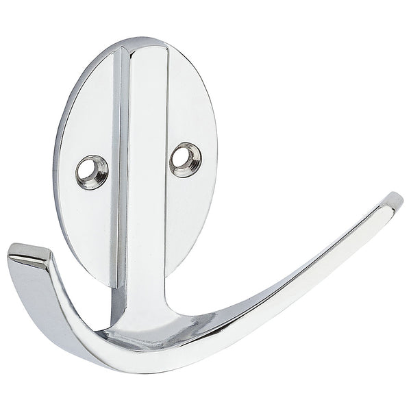 National Hardware N807-002 Modern Double Robe Hook, Chrome, 3""