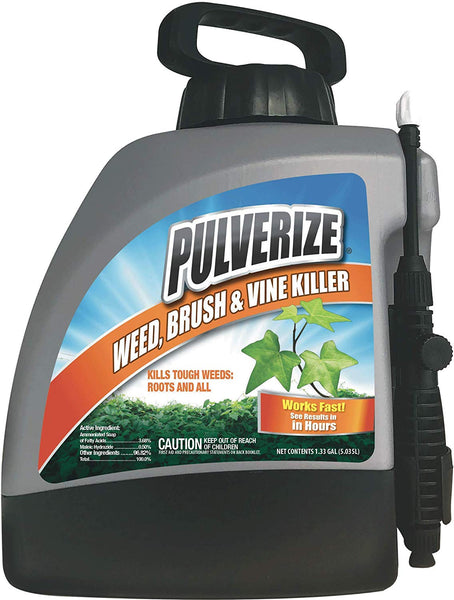 Pulverize PZBV-PS-133 Weed ,Brush & Vine Killer Pump Sprayer, 1.33 Gallon