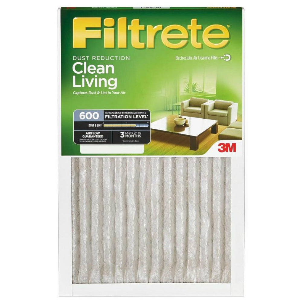 "Filtrete 9885DC Clean Living Dust Reduction Air Filter, MPR 600, 24"" x 24"" x 1"""