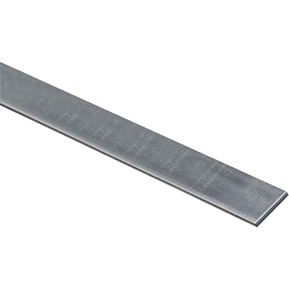 "National Hardware 180042 Solid Galvanized Steel Flat Bar, 12-Gauge, 1-1/4"" x 36"""