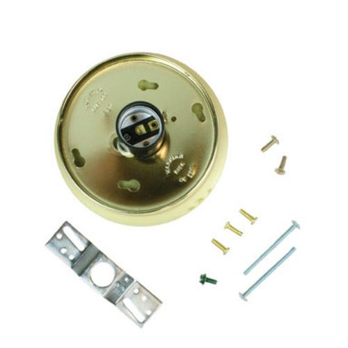 "Jandorf 60222 Glass Holder Kit 4"" Brass"