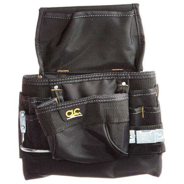 CLC 5833  Pro Framer Heavy-Duty Ballistic Fabric Nail & Tool Bag, 9 Pockets