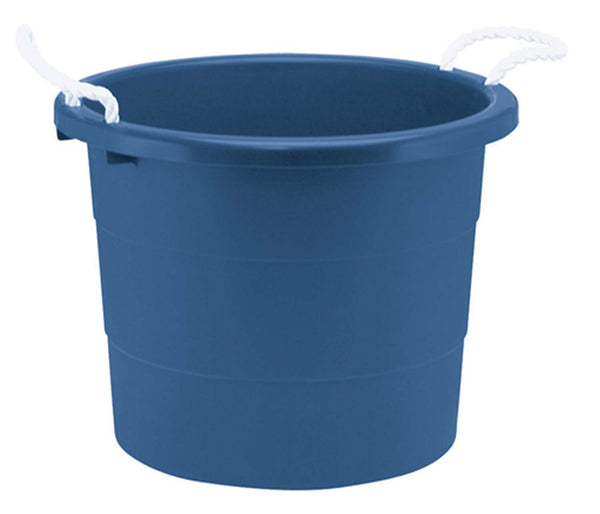 Rough & Rugged TU0014 Utility Tub Muck Plastic Bucket, 20-Gallon, Blue