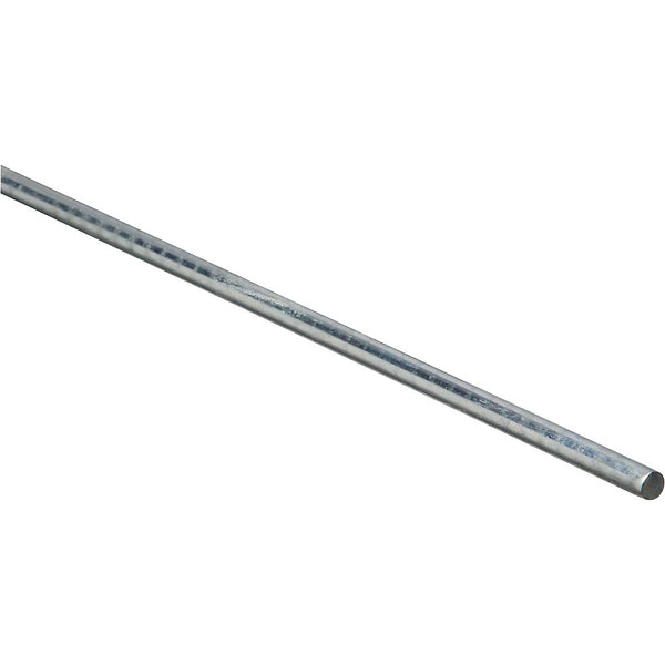 "National Hardware 179762 Steel Round Smooth Rod, Zinc Plated, 1/4"" x 36"""