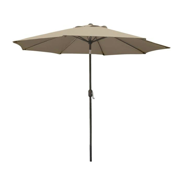 "Seasonal Trends 60036 Crank Umbrella, 55.1"" x 5-1/21"" x 5-1/21"", Taupe"
