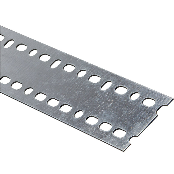 "National Hardware 341206 Steel Slotted Flat Bar, Galvanized, 2-13/16"" x 48"""
