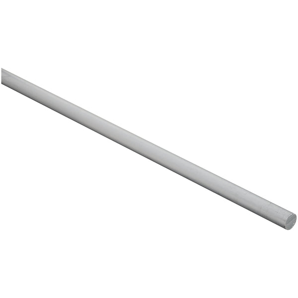 "National Hardware 247502 Aluminum Round Rod, Mill Finish, 3/8"" x 72"""