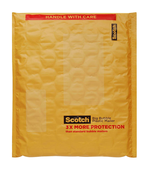 "Scotch BB8915-48 Self-Sealing Big Bubble Plastic Mailer, 10.5"" x 15"""