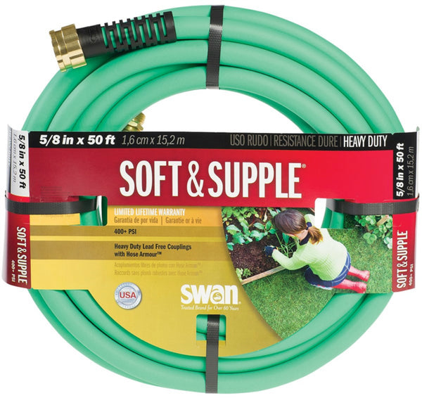 "Swan SNSS58050 Soft & Supple Water Hose, 5/8"" x 50', Green"