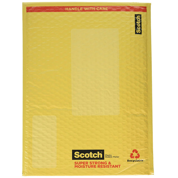 "Scotch 8915 Plastic Super Strong & Moisture Resistant Smart Mailer, 10-1/2"" x 15"""
