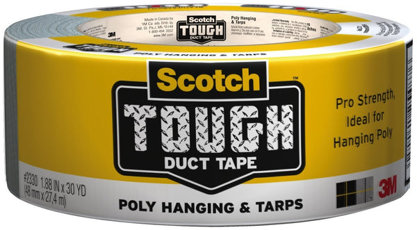 "Scotch 2330 Poly Hanging and Tarps Strength Duct Tape, 1.88"" x 30 Yards"