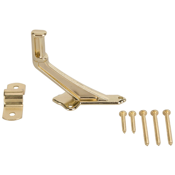 "Prosource 61-Z080 Handrail Bracket, 2-15/16"", Bright Brass"