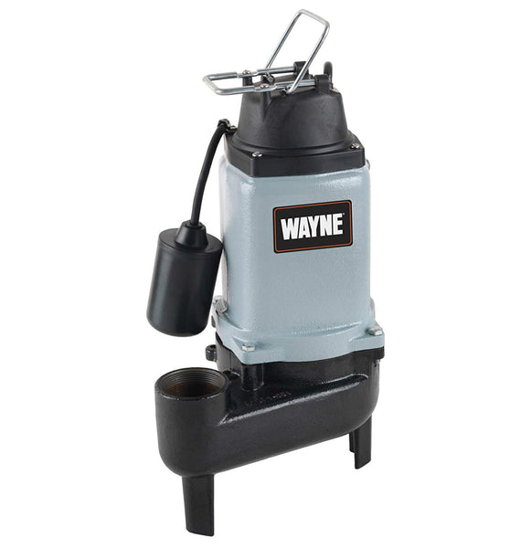 Wayen WCS50T Cast Iron Submersible Sewage Pump, 1/2 HP