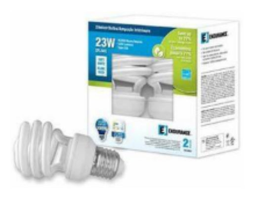 Endurance 202232 Medium Base Compact Fluorescent Bulb, Soft White, 120V, 23W