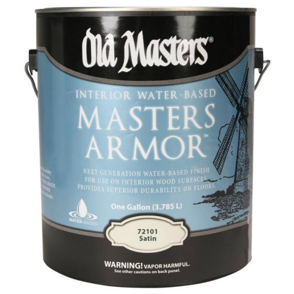Old Masters 72101 Masters Armor Interior Water-Based Wood Finish, Satin, 1-Gal