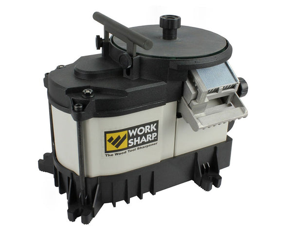 Work Sharp WS3000 Woodworking Tool Sharpener with 2-Glass Wheels, 110V, 1/5 HP