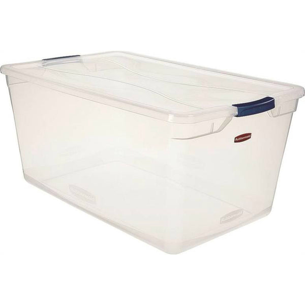 Rubbermaid RMCC950001 Clever Store Basic Latch Container with Clear Lid, 95-Qt