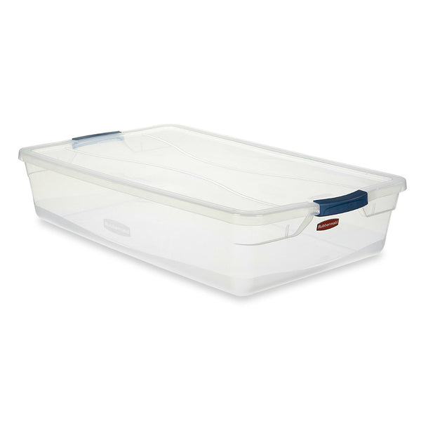 Rubbermaid RMCC410001 Clever Store Basic Latch Container with Clear Lid, 41-Qt