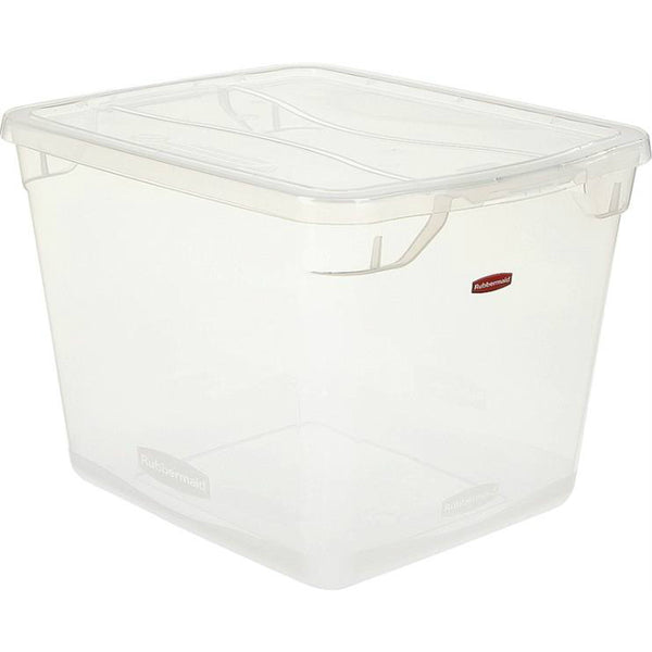 Rubbermaid RMCC300002 Clever Store Non-Latching Container with Clear Lid, 30-Qt