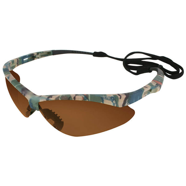 Jackson 3011375 Nemesis Safety Glasses with Camo Frame & Bronze Lens